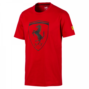 SF  Scuderia Ferrari Big Shield Tee Rosso Corsa