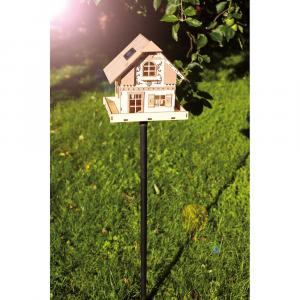 Casa in legno decorativa arredo giardino con illuminazione notturna