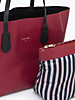 Borsa shopping in pelle, bicolor - PATRIZIA PEPE