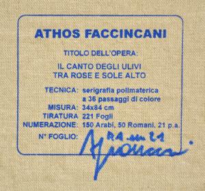 FACCINCANI ATHOS Serigrafia polimaterica su canvas Formato cm 34x84