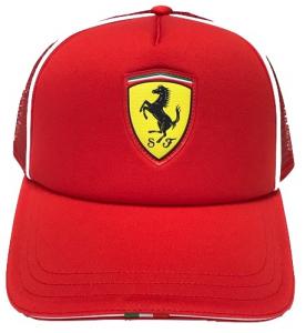 Scuderia Ferrari Fanwear Trucker Cap Rosso Corsa