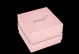 Orecchini Herzengel Zircone Taglio Cuore Rosa