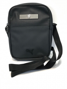 Ferrari Small Portable Black Eco Leather
