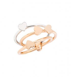ANELLO LUCKY IN LOVE Oro rosa 9kt, Argento