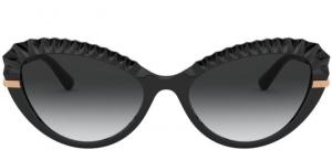 Dolce & Gabbana - Occhiale da Sole Donna, Plissè DG, Black/Grey Shaded  DG 6133 501/8G  C55