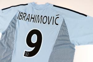 2002-03 Ajax Maglia Away #9 Ibrahimovic XL (Top)