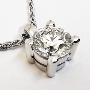 Collana Punto Luce con diamante taglio brillante