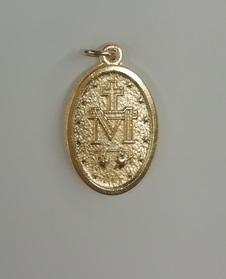 Medaglia Madonna Miracolosa metallo dorato grande