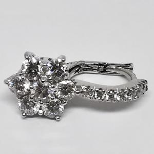 Orecchini Stella Pendente Oro Diamanti