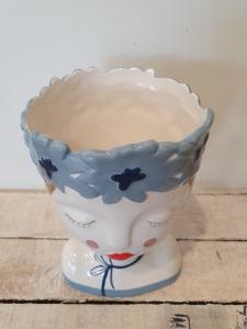 Vaso ceramica Edg busto donna