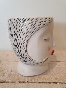 Vaso ceramica Edg donna rossetto rosso