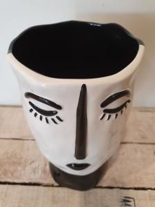 Vaso ceramica Edg alto nero