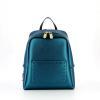 Zaino Nine metallizzato con borchie turquois GUM DESIGN
