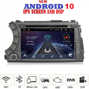 ANDROID 10 autoradio 2 DIN navigatore per SsangYong Kyron Actyon 2005-2013 GPS DVD USB SD WI-FI Bluetooth Mirrorlink