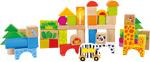 Cubetti da costruzione in legno Zoo / 50 pezzi