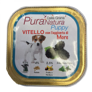 DALLA GRANA PURA NATURA VITELLO E MORE PUPPY 150gr