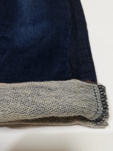 Pantalone baby denim felpina 3-24 mesi