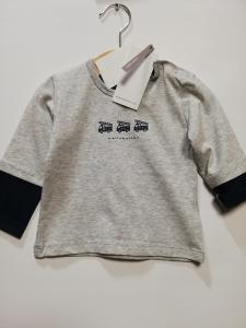 T-shirt cotone manica lunga newborn 68-92 cm