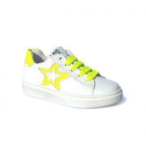 Sneaker bianca/gialla Barque
