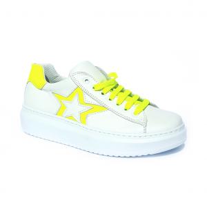 Sneaker bianca/gialla Joann