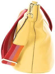 Secchiello pelle colore banana GIANNI CHIARINI