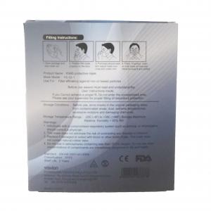 Mascherina di protezione per viso bianca FPP2 certificata CE 2834 DPI EN149:2001 + A1:2009 strati 10 pz
