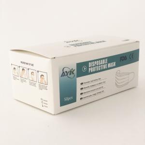 Mascherine monouso con elastici, 50 pezzi Maschera traspirante 3 strati anti-polvere