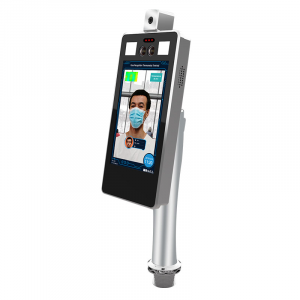 Dispositivo di riconoscimento facciale e rilevazione temperatura