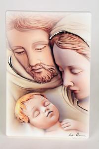 Quadro Sacra Famiglia in Legno Laccato 15x10 cm