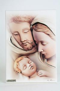 Quadro Sacra Famiglia in Legno Laccato
