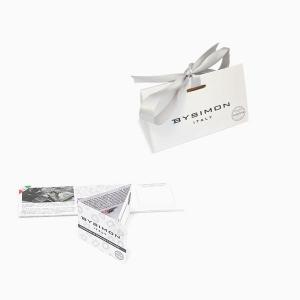 By Simon - Bracciale argento croci con zirconi bianchi