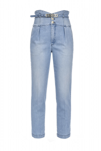 Jeans vita alta con cinta Pinko.