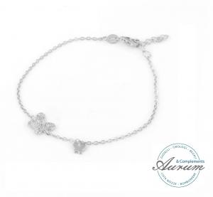 Bracciale By Simon in argento con farfalla e zirconi 17016117