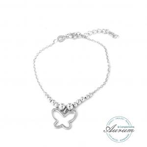 By Simon bracciale in argento con pendente farfalla 17016629