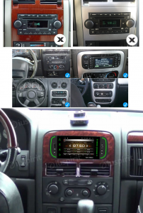 ANDROID 10 autoradio navigatore per Jeep Grand Cherokee Jeep Wrangler Chrysler 300 M Chrysler PT Cruiser GPS DVD USB SD WI-FI Bluetooth Mirrorlink