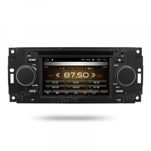 ANDROID 10 autoradio navigatore per Jeep Compass Commander Grand Cherokee Wrangler Chrysler 300 Chrysler 300 C Chrysler Pacifica Dodge Ram Dodge GPS DVD USB SD WI-FI Bluetooth Mirrorlink