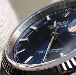 Rolex Datejust 36 mm Blu Indici 116234