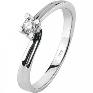 Bliss ANELLO SOLITARIO in oro bianco e diamanti ref. 20074082