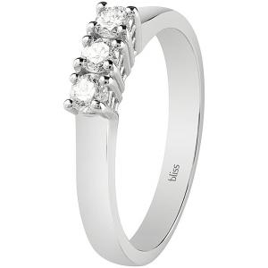 Bliss ANELLO TRILOGY oro bianco e diamanti ref. 20081257