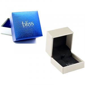 Bliss ANELLO oro bianco, diamanti e zaffiri blu