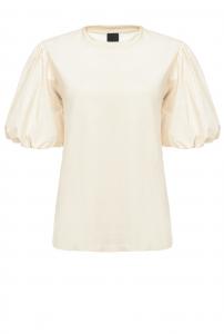T-shirt in jersey con maniche a palloncino Pinko.