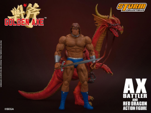 Golden Axe Action Figure 1/12:  Ax Battler & Red Dragon by Storm Collectibles