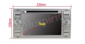 Autoradio 2 DIN navigatore per Ford Focus Mondeo C-Max S-Max Galaxy Transit Fiesta Fusion Kuga GPS DVD USB SD Bluetooth
