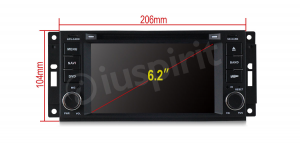 Autoradio navigatore per Jeep Compass Jeep Commander Jeep Grand Cherokee Jeep Wrangler Jeep Unlimited Chrysler 300C Chrysler Sebring Dodge Ram GPS DVD USB SD Bluetooth