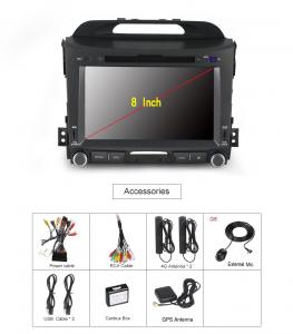 ANDROID autoradio 2 DIN navigatore per Kia Sportage 2010 2011 2012 2013 2014 2015 GPS DVD WI-FI Bluetooth MirrorLink