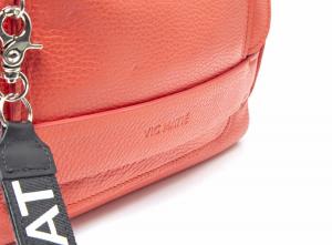 Cartella morbida con patta e tasca zippata rossa Vic Matiè.