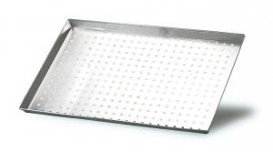 Teglia rettangolare forata in alluminio cm.40x30x3h