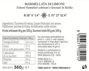 Marmellata di Limoni Famulari   Peso netto 360g  