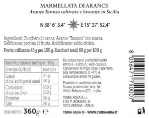 Marmellata di Arance Tarocco | Peso netto 360g |