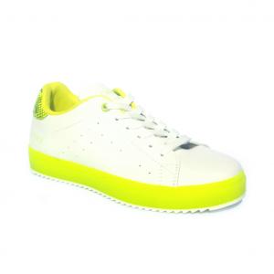 Sneaker bianca/giallo fluo CAFèNOIR
